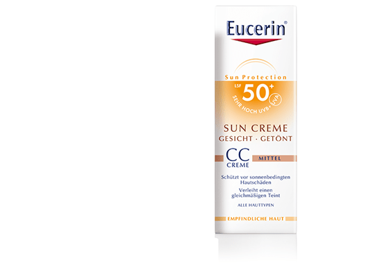 sun creme cc get nt mittel lsf 50 eucerin. Black Bedroom Furniture Sets. Home Design Ideas